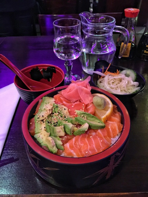 Dinner at Nikko Japanese Restaurant (right next to my hotel)
