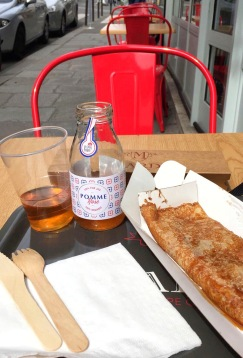 Apple Caramel Crêpe and Rose Apple Juice at Mardi Crêpe Club