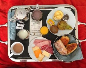My typical breakfast at the Hôtel de Noailles
