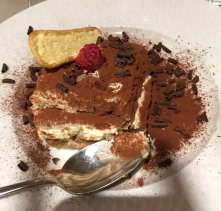 Tiramisu at Villa Dondelli (best one I have ever had!)