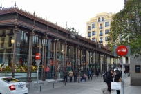 Mercado San Miguel (I always went in through this door, by the strawberries).